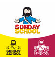logo sunday school vector image