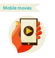mobile movies vector image