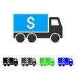 money delivery flat icon vector image vector image