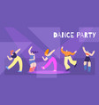 motivation dance party flat card banner template vector image vector image