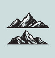 mountains climbing mountaineering sketch vector image