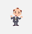 old businessman makes a gesture of tired vector image