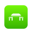 pagoda icon digital green vector image