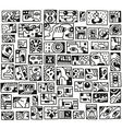 paranormal things secret crime - doodles set vector image vector image