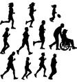 paraplegic person as a runner vector image vector image