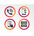 phone icons call center support symbol vector image vector image