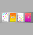 placard templates set with abstract geometric vector image vector image