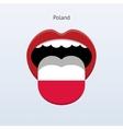 Poland language Abstract human tongue vector image vector image