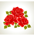 Red roses with flowers bouquet vector image