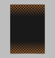 retro abstract halftone pattern brochure template vector image vector image