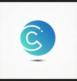 round symbol letter c design minimalist vector image vector image