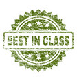 scratched textured best in class stamp seal vector image vector image