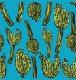 seamless pattern with zucchini vector image vector image