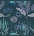 seamless tropical background floral wallpaper vector image vector image