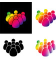 set crowd of people icon vector image vector image