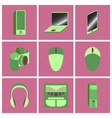 set icons in flat design electronic gadgets vector image vector image