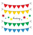 set multi colored flat buntings garlands vector image vector image