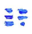 set navy blue watercolor backgrounds vector image