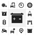set of 12 editable vehicle icons includes symbols vector image vector image
