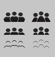 set of different balck and white icons of men and vector image vector image