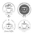 set vintage coffee labels vector image vector image
