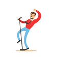 singer man performing a song vector image