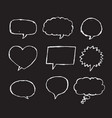 speech bubble sketch hand drawn vector image vector image