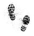 Splash shoe print vector image