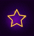 star favourite neon sign vector image vector image