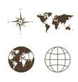symbols of global technology international vector image