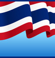 thai flag wavy abstract background vector image vector image