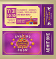 ticket for admission to circus show vector image