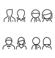 toilet icons symbol set vector image vector image