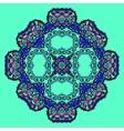 Trippy flower Acid art Oriental mandala over
