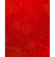 valentine red background with many roses vector image vector image