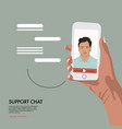 video chat with online assistant virtual vector image