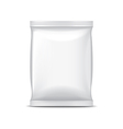 White foil packaging for food isolated vector image vector image