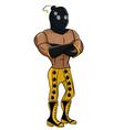 Wrestler Bomber vector image vector image