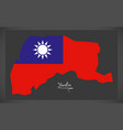 yunlin taiwan map with taiwanese national flag vector image vector image