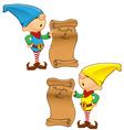Elf Mascot Naughty And Nice List vector image
