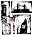 london in grunge background