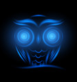 abstract animal owl neon sign hipster animal vector image vector image