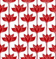 Abstract background with red flowers vector image vector image