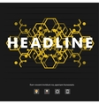 Abstract modern pattern of hexagons circuits eps vector image vector image