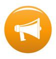 antique megaphone icon orange vector image