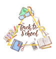 Back to school doodle education concept vector image