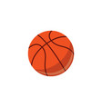 basketball ball sport equipment simple icon vector image vector image