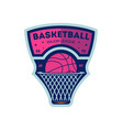 basketball major league vintage isolated label vector image vector image