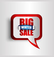 big winter sale background vector image