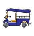 blue public rickshaw vector image